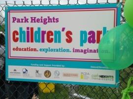 New Playground Sign